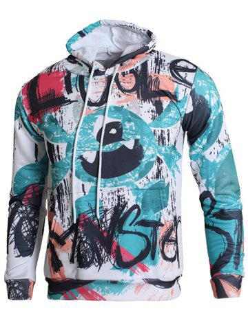 Shop Hand-painting Pattern Kangaroo Pocket Casual Hoodie