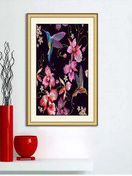 Flowers and Birds Print Wall Sticker for Bedroom -