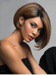 Short Side Parting Colormix Straight Bob Synthetic Wig -