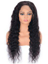 Free Part Medium Water Wave Human Hair Lace Front Wig -