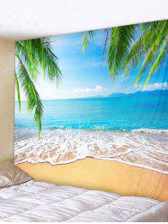 Wall Hanging Art Beach Palm Leaf Print Tapestry -