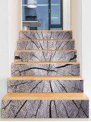 Crack Tree Grain Printed Stair Decals -