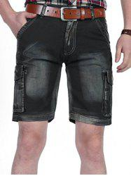 Casual Dyed Pockets Cargo Shorts -