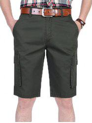 Casual Letter Printed Pocket Cargo Shorts -