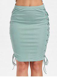 Criss Cross Up Pencil Skirt -