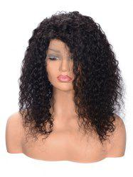 Free Part Fluffy Curly Lace Front Human Hair Wig -