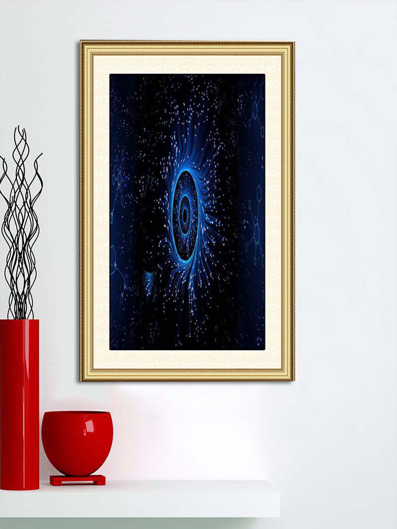 Cheap Galaxy Eye Print Wall Sticker for Bedroom
