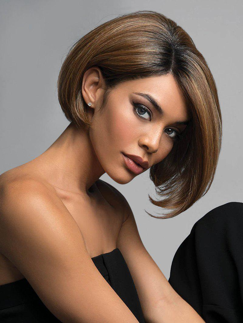 Shop Short Side Parting Colormix Straight Bob Synthetic Wig