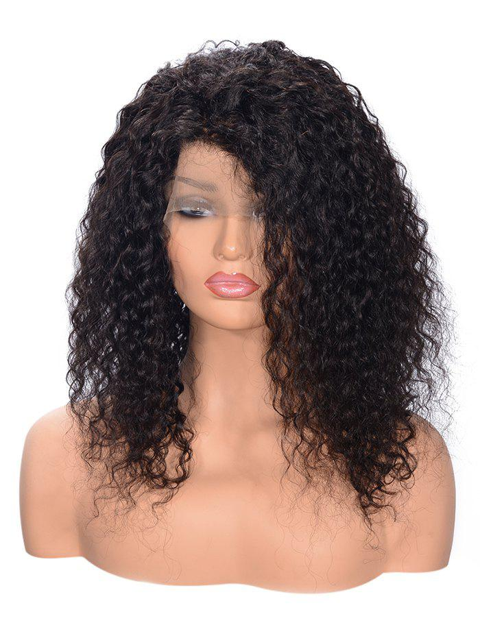 Store Free Part Fluffy Curly Lace Front Human Hair Wig
