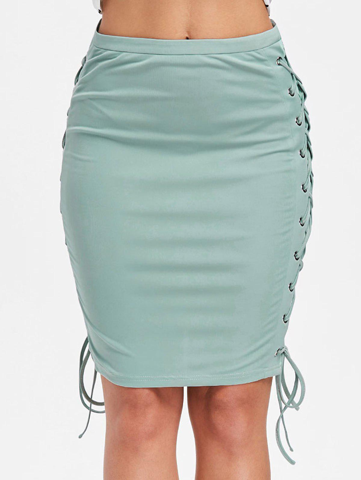 Buy Criss Cross Up Pencil Skirt