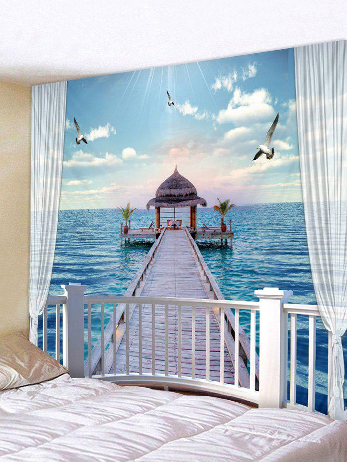 Outfits Sea Wood Bridge Cabin Print Wall Hanging Tapestry
