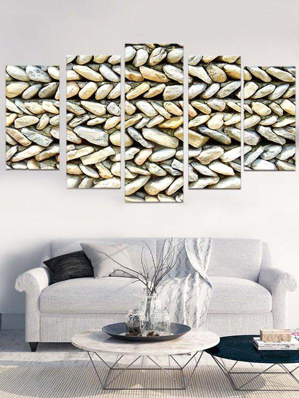 New Stone Wall Print Unframed Split Canvas Paintings