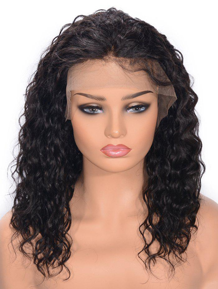 Discount Free Part Curly Lace Front Real Human Hair Wig