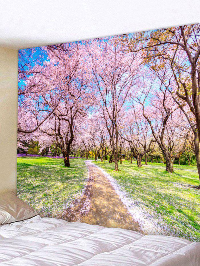 Sale Wall Hanging Art Sakura Forest Print Tapestry