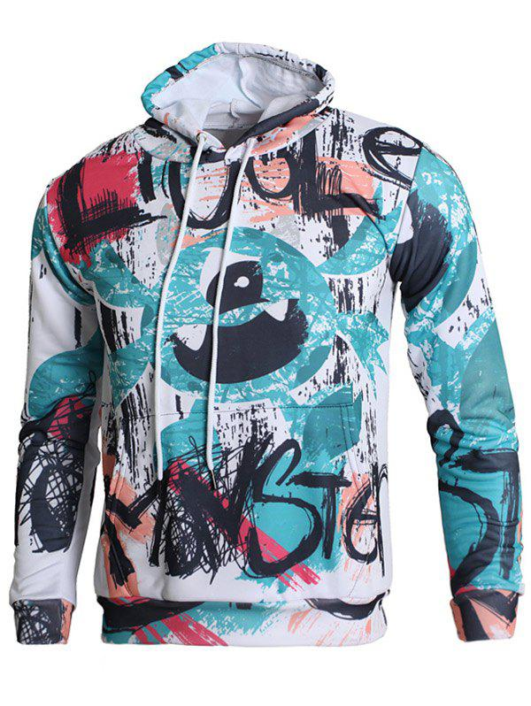 Shops Hand-painting Pattern Kangaroo Pocket Casual Hoodie
