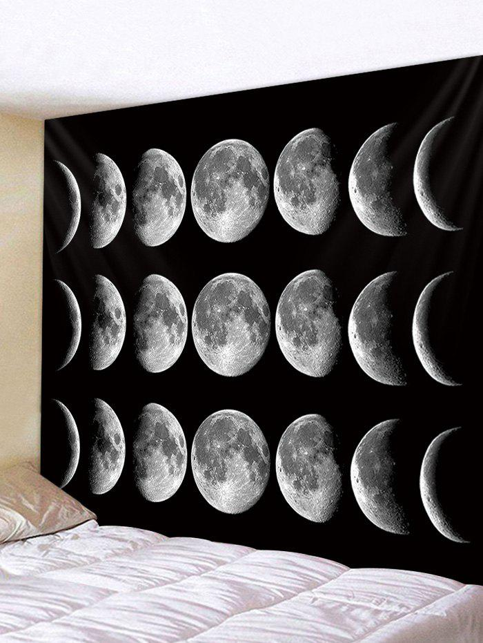 Trendy Wall Hanging Art Lunar Eclipse Print Tapestry