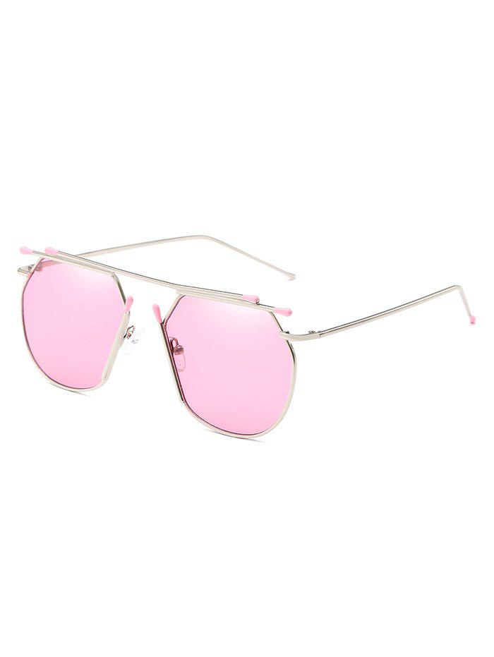 Sale Unique Top Bar Alloy Pilot Sunglasses