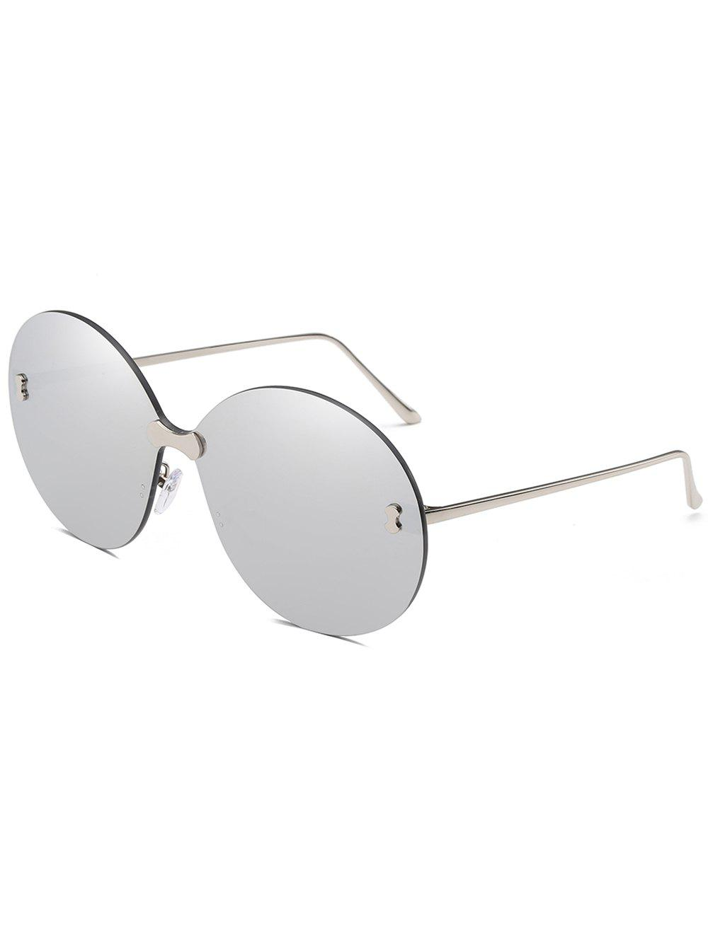 Shop Anti Fatigue Rimless Oversized Round Sunglasses