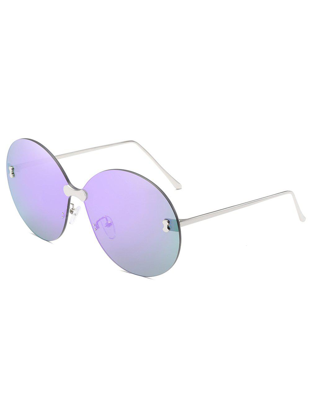 Outfits Anti Fatigue Rimless Oversized Round Sunglasses