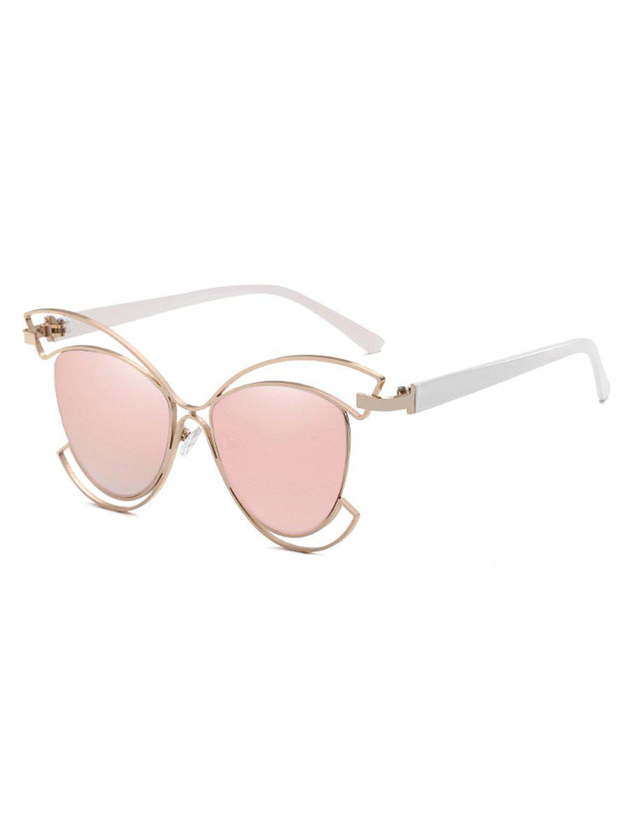 1183e04101 2019 Novelty Metal Hollow Out Frame Catty Sunglasses