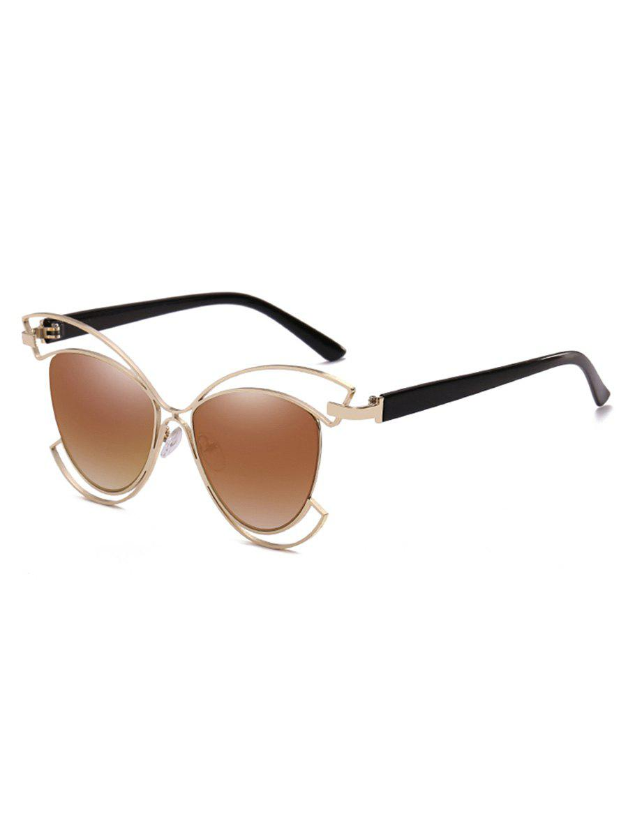 Fancy Novelty Metal Hollow Out Frame Catty Sunglasses
