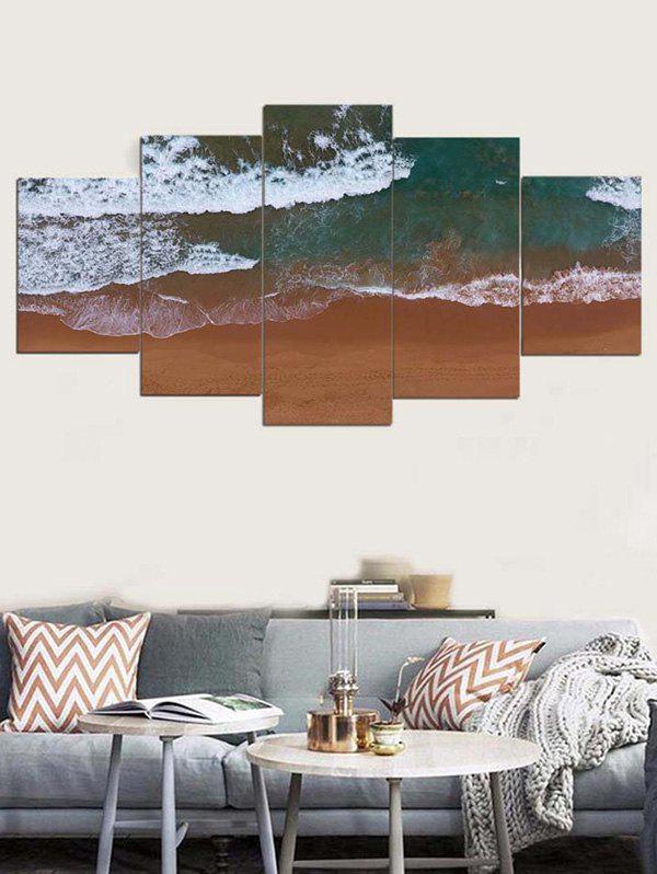 Store Beach Sea Waves Printed Wall Decor Canvas Paintings