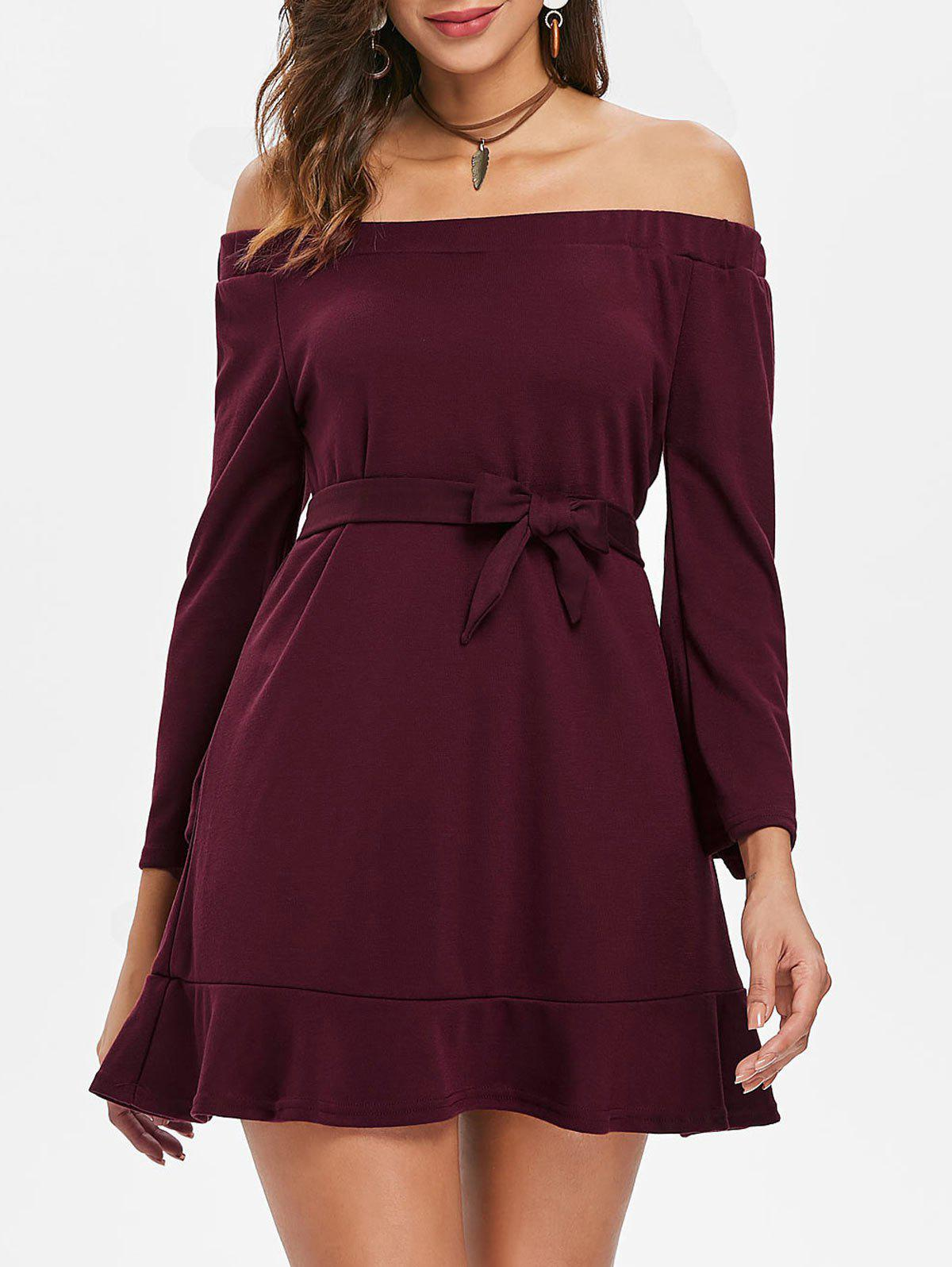 Shop Off The Shoulder Belted Top