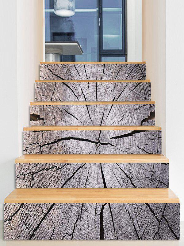 Shops Crack Tree Grain Printed Stair Decals