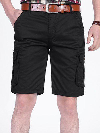 Cheap Six-pocket Zip Fly Cargo Shorts