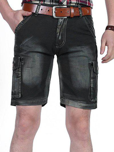 New Casual Dyed Pockets Cargo Shorts