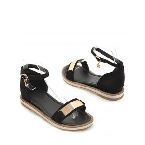Plus Size Holiday Ankle Strap Low Heel Sandals -