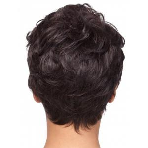 Short Side Bang Slightly Curly Capless Synthetic Wig -