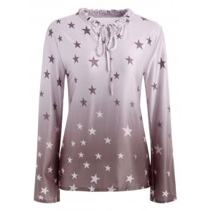 Star Print Ombre Top -