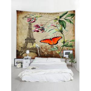 Wall Hanging Art Retro Butterfly Stamp Print Tapestry -