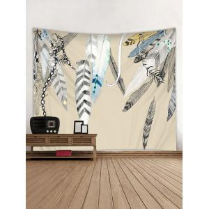 Feather Printed Wall Tapestry Hanging Decoration -