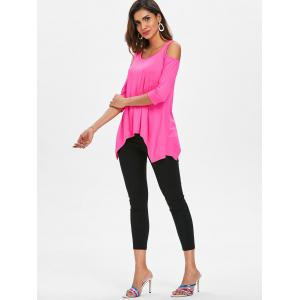 Cold Shoulder Asymmetrical T-shirt -