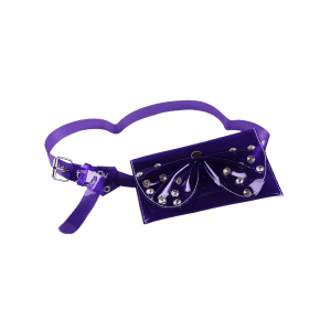 Vintage Rhinestone Bowknot Jelly Color Fanny Pack Сумка для ремня -