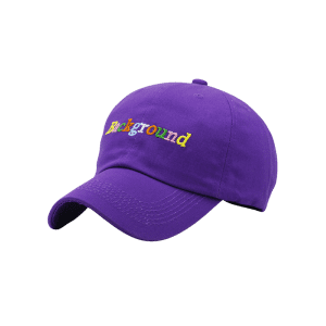 Colored Background Embroidery Baseball Cap -