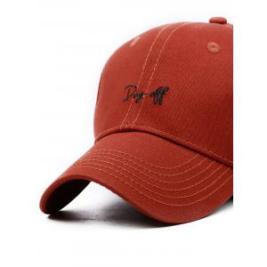 Day Off Embroidery Adjustable Baseball Hat -
