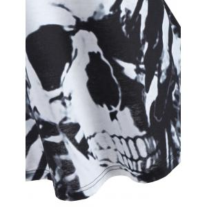 Lace Back Skull Print Tank Top -