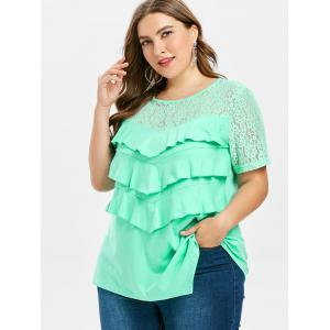 Plus Size Lace Ruffle T-shirt -