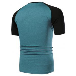 Fast Dry Applique Contrast Color Breathable Activewear T-shirt -