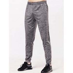 Elastic Waistband Zipper Pocket Jogger Pants -