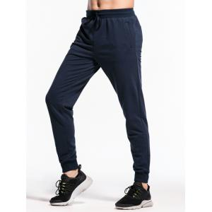 Elastic Waistband Two-pocket Jogger Pants -