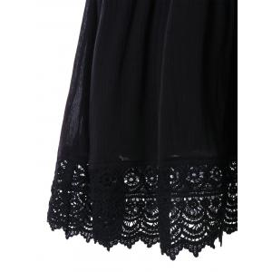 Lace Panel Sleeveless Casual Dress -