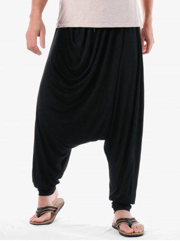 Trendy Narrow Feet Solid Color Harem Pants