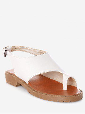 Latest Plus Size Faux Leather Leisure Slingback Thong Sandals
