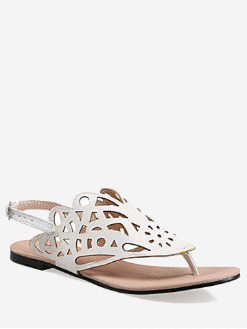 Chic Plus Size Leisure Hollow Out Slingback Thong Sandals