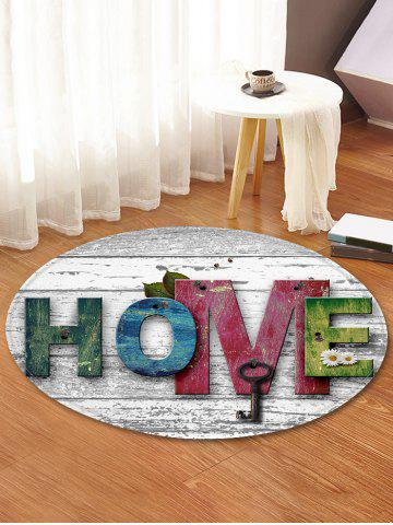 Affordable Home Wood Grain Pattern Anti-skid Round Floor Rug