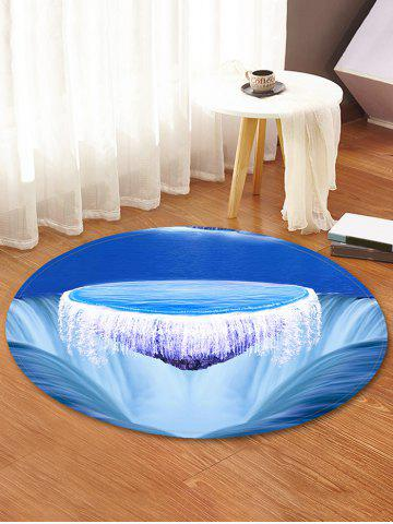 Fashion Ocean Island Pattern Anti-skid Round Floor Rug